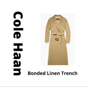 Cole Haan Bonded Linen Women's Large Trench